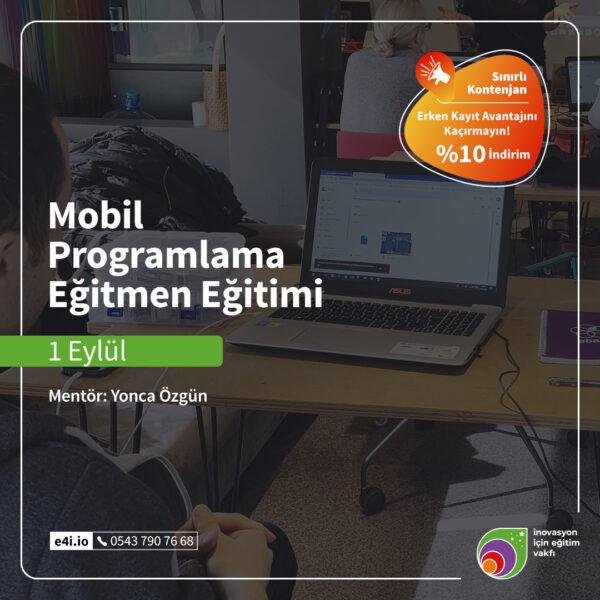 Mobil Programlama Eğitmen Eğitimi 1 Eylül